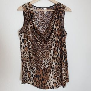 Tops - PerSeption Womens Leopard Animal Print Top